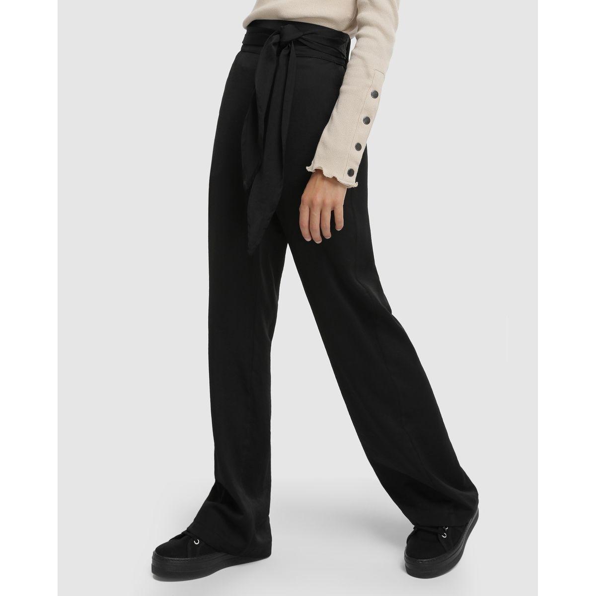 Pantalon en satin