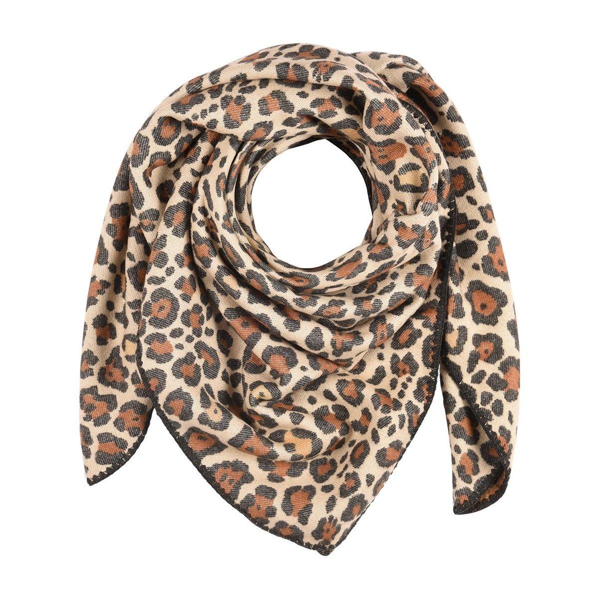 Foulard plaid léopard Made in France