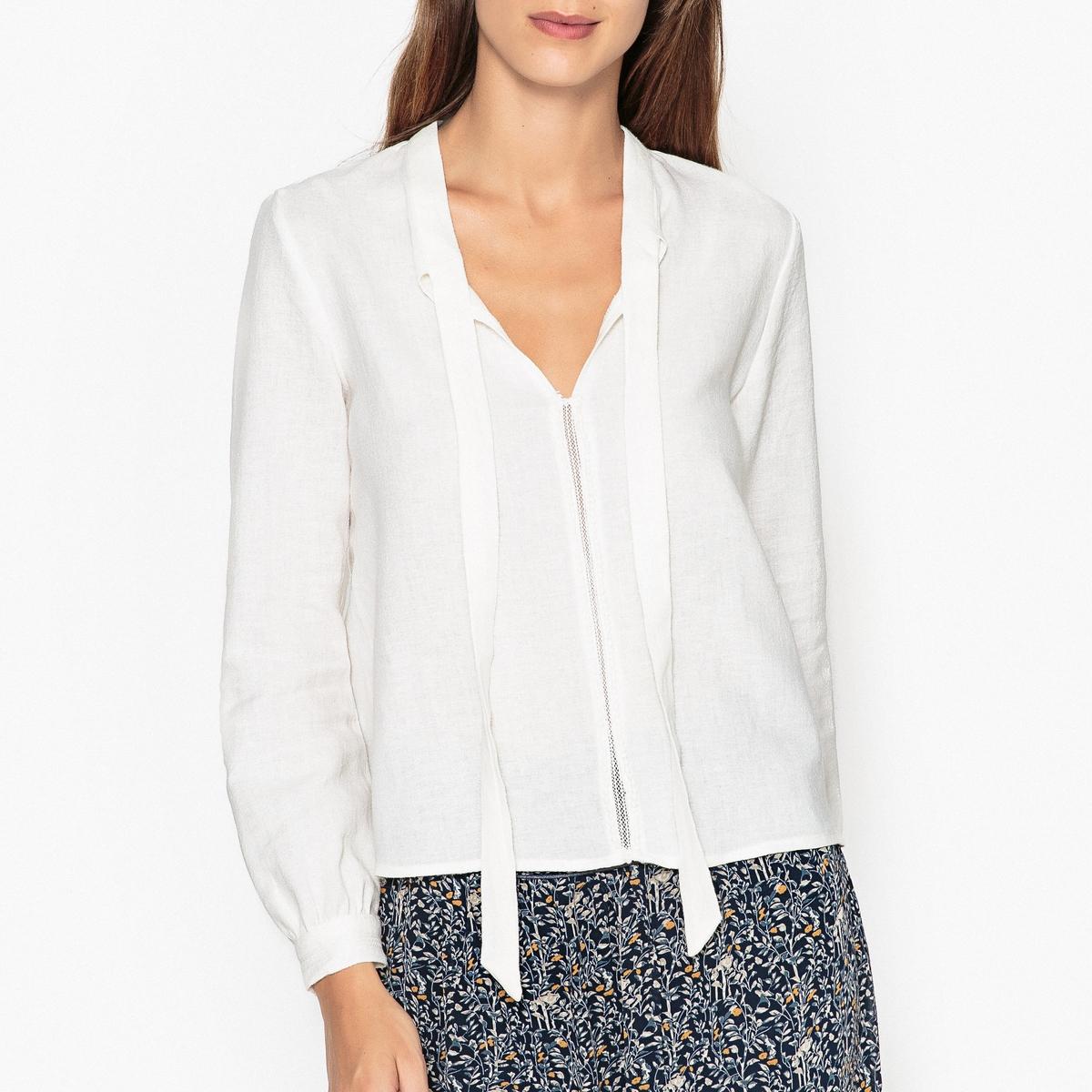 Блузка с вырезом-галстуком PONT