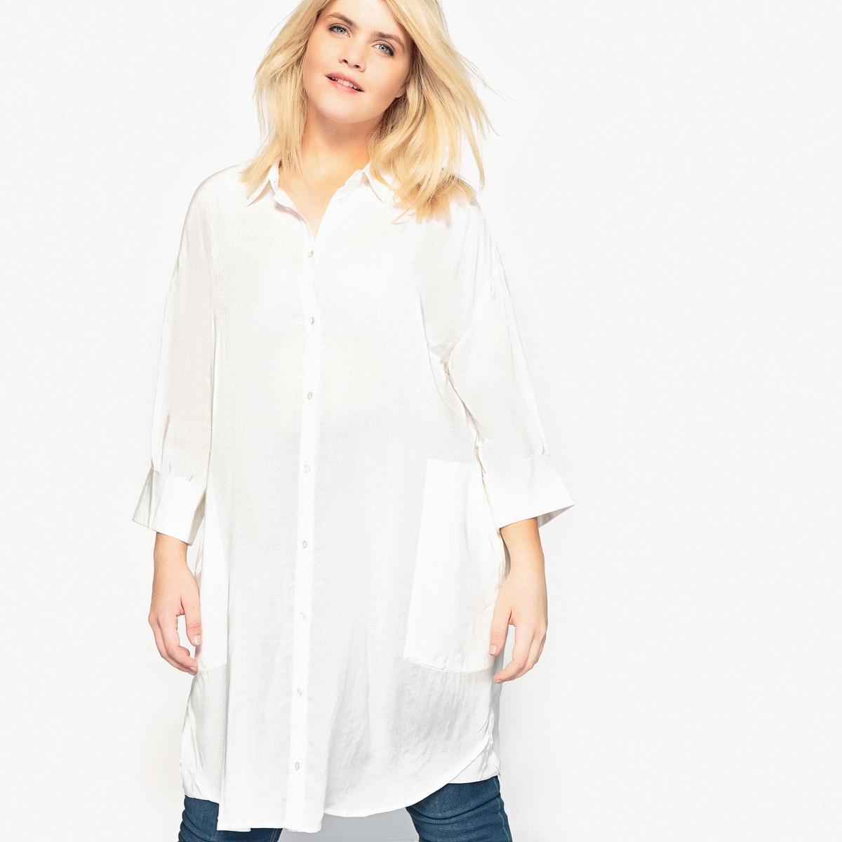 Рубашка-туника струящаяся