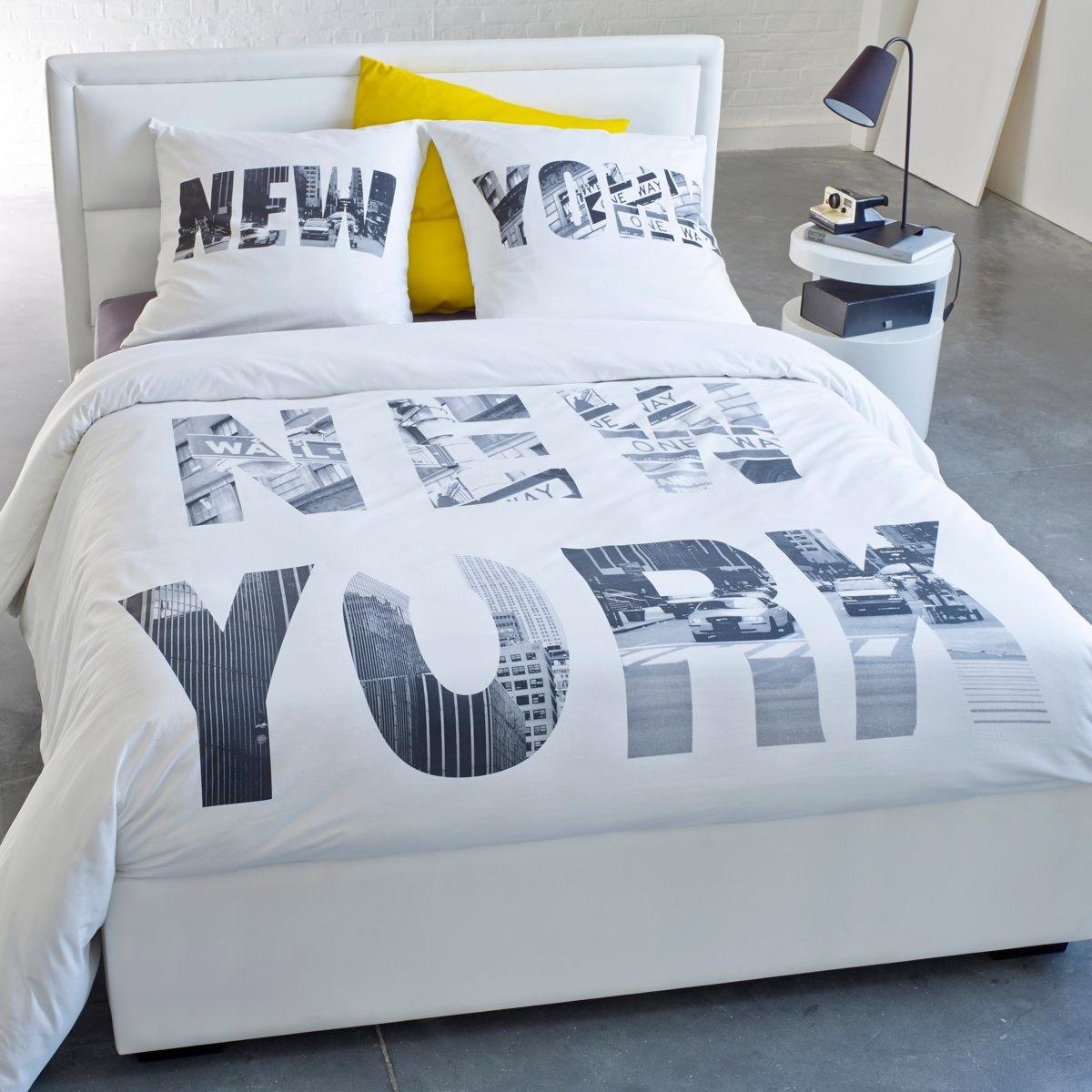 Пододеяльник с рисунком NEW-YORK