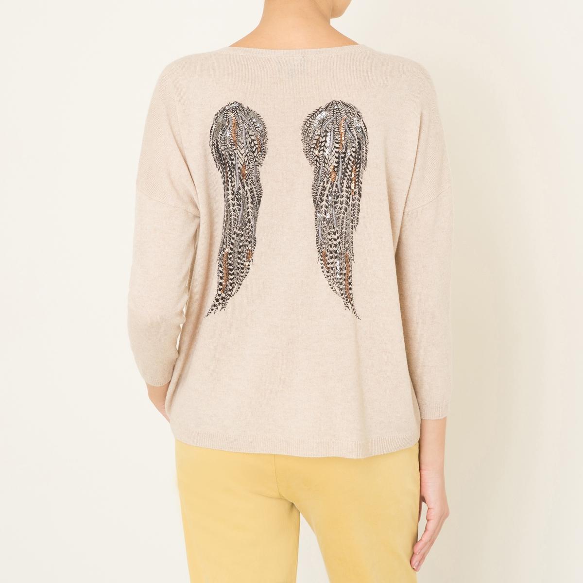 Пуловер INESСостав и описание :Материал : меланжевый трикотаж 90% шерсти, 10% кашемираМарка : BERENICE<br><br>Цвет: антрацит,бежевый