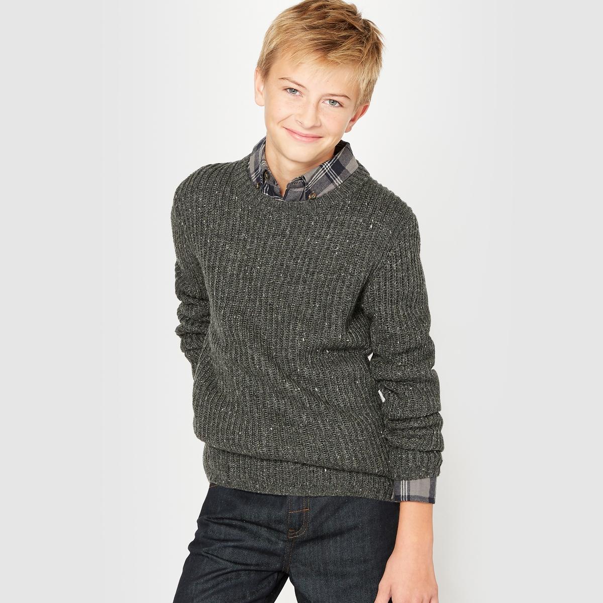 Пуловер из ребристого трикотажа, 10-16 лет