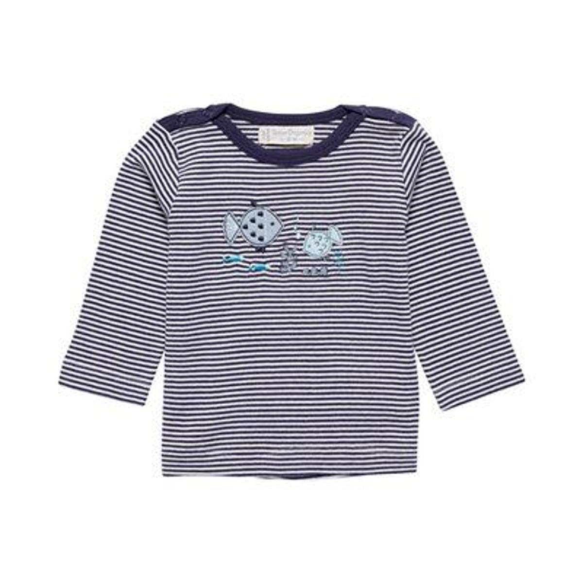 T-shirt à manches longues rayé poissons