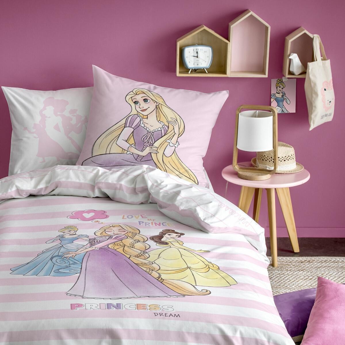 princesses striped cotton duvet set