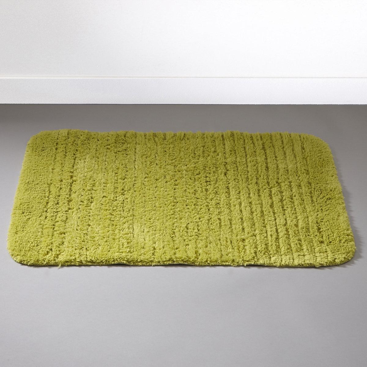 Коврик для ванной, 1100 г/м?Пушистый коврик для ванной комнаты. 100% хлопка, 1100 г/м?, ультрамягкий и невероятно впитывающий. Стирка при 60°. Рельефные полоски. Обратная сторона с покрытием против скольжения.<br><br>Цвет: зеленый анис