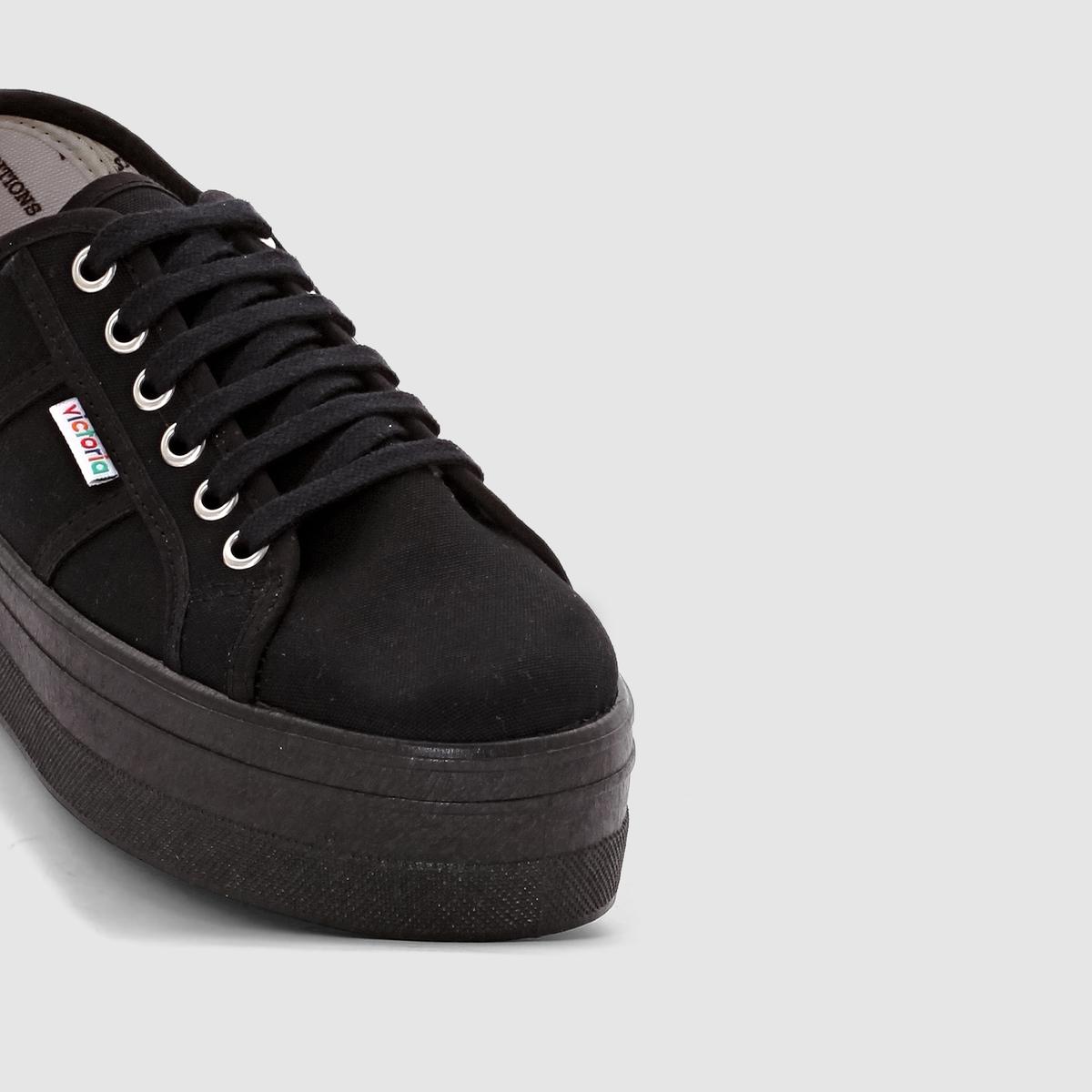 - Sneakers Victoria BLUCHER LONA PLATAFORMA NE