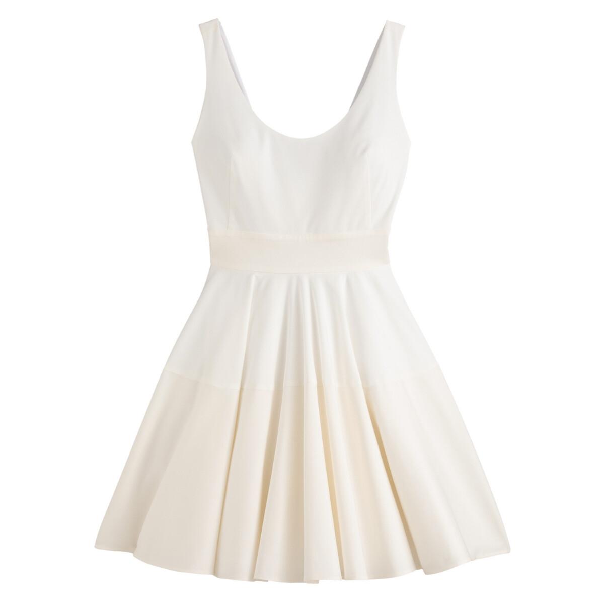 Платье LaRedoute Короткое без рукавов 36 (FR) - 42 (RUS) бежевый