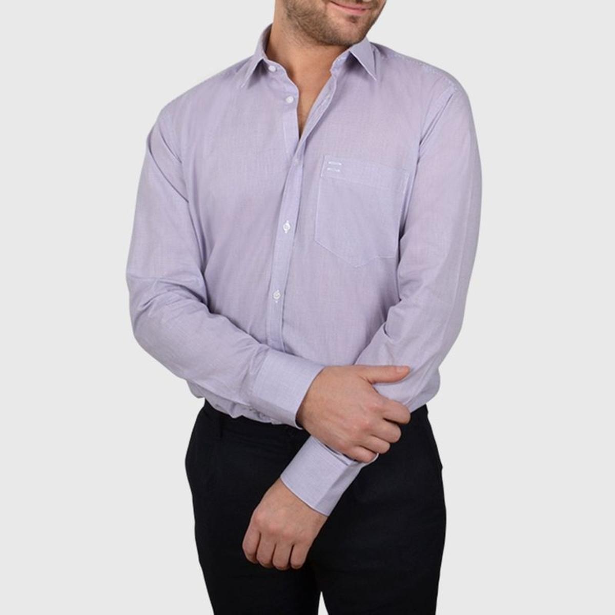 Chemise non cintrée avec poche