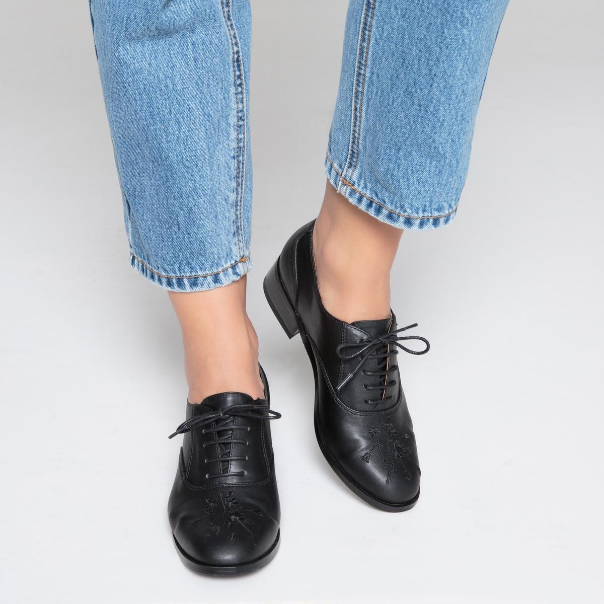 Ботинки-дерби с вышивкой ботинки дерби под кожу питона