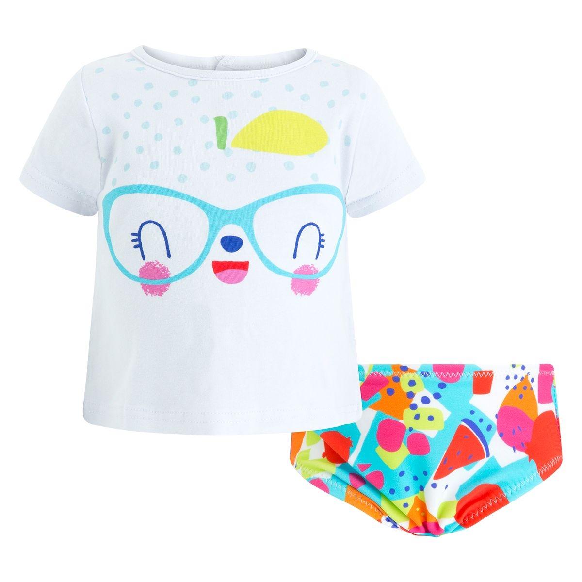 Culotte de bain lycra+tee-shirt jersey smoothies