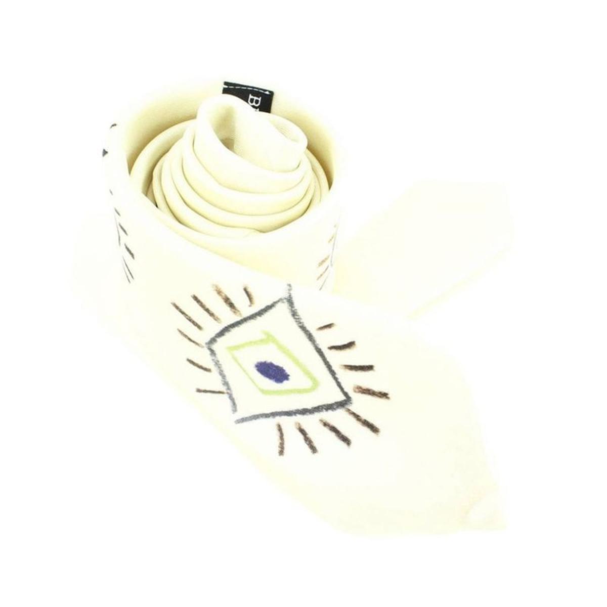 Cravate Lyonnaise  en soie  PICASSO  OEIL, Made in France