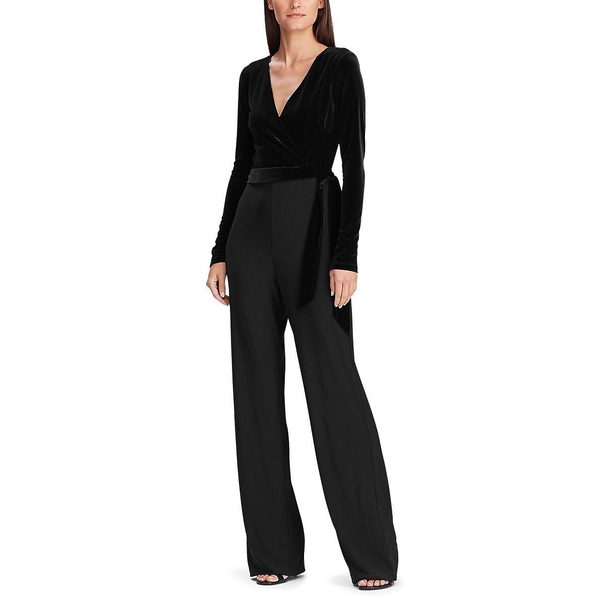 Комбинезон LaRedoute С длинными рукавами 38 (FR) - 44 (RUS) черный платье la redoute прямое с рукавами 34 fr 40 rus черный