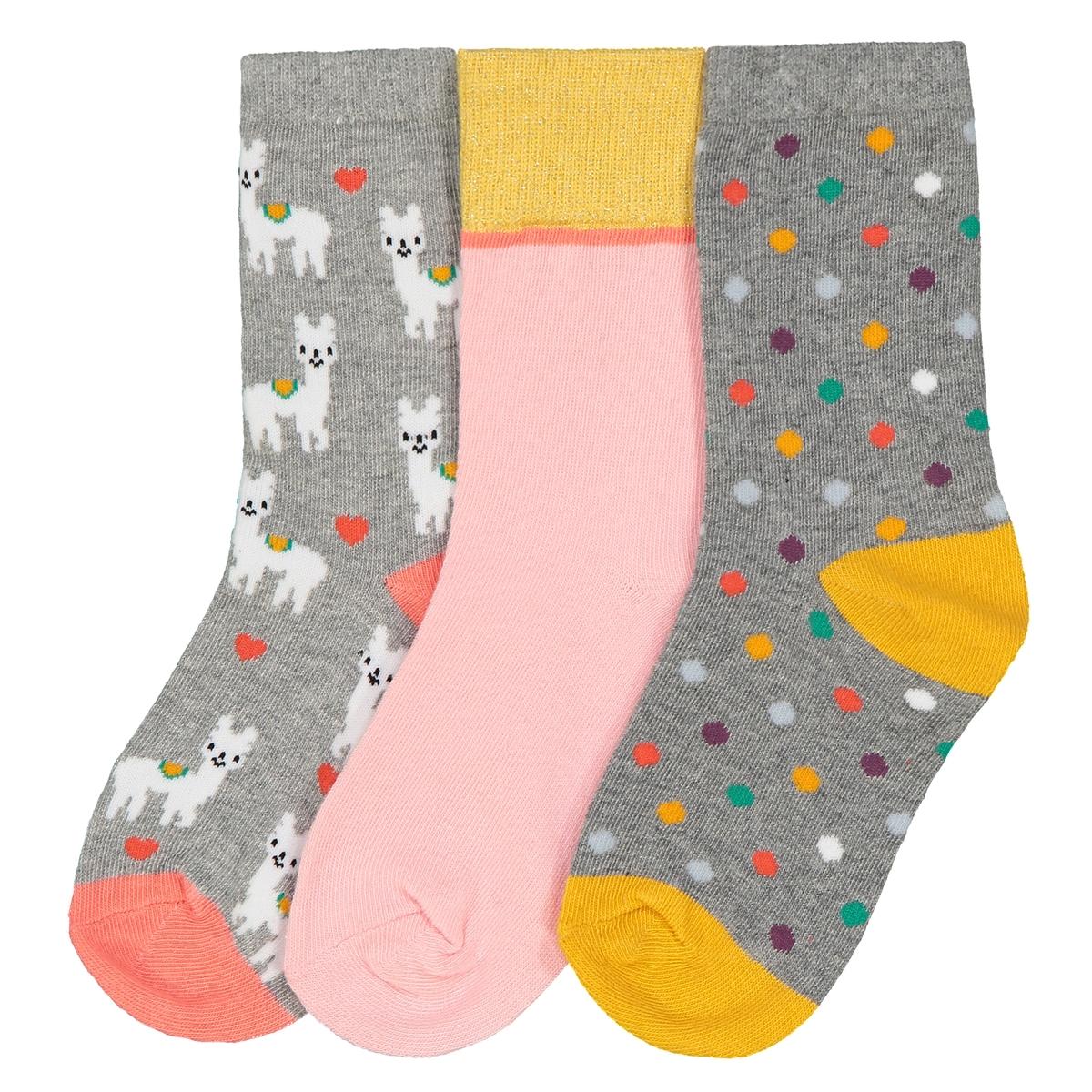 Комплект из 3 пар носков , 23/26-35/38 jd коллекция светло телесный 12 пар носков 15d две кости размер