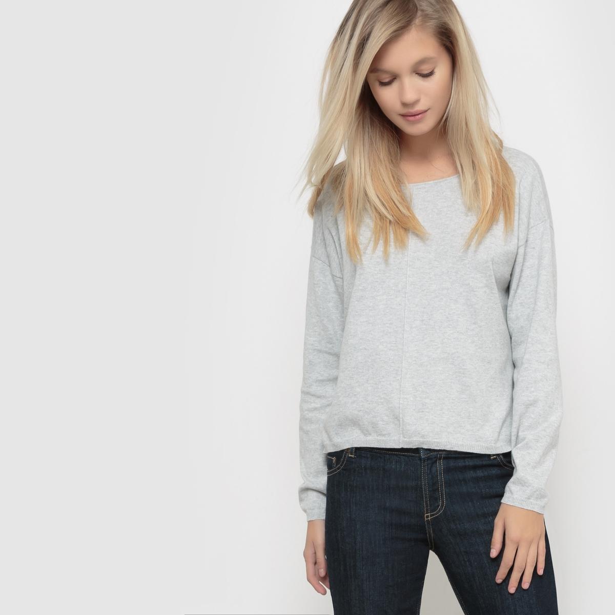 Пуловер с круглым вырезом хлопок/кашемир