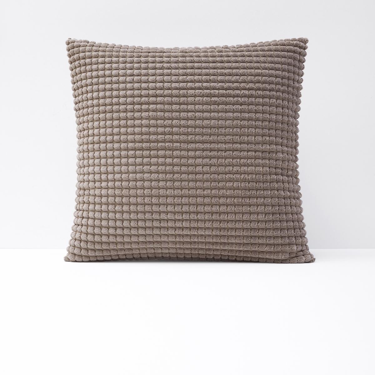 Чехол La Redoute Для подушки с рельефным узором FLUFFY 65 x 65 см бежевый чехол la redoute для подушки или наволочка однотонного цвета с помпонами riad 65 x 65 см розовый