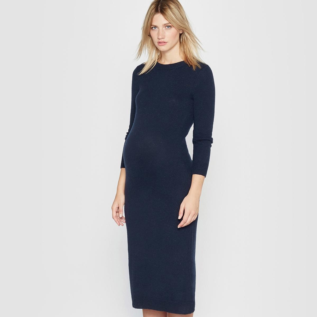 Платье вязаное для периода беременности