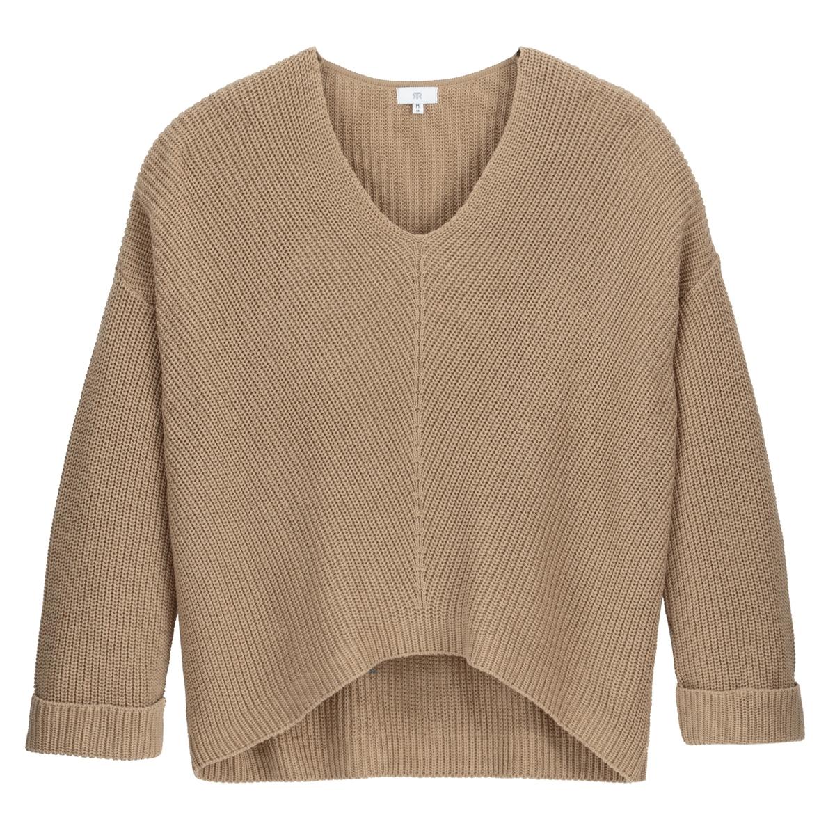 Jersey con cuello de pico de punto fino
