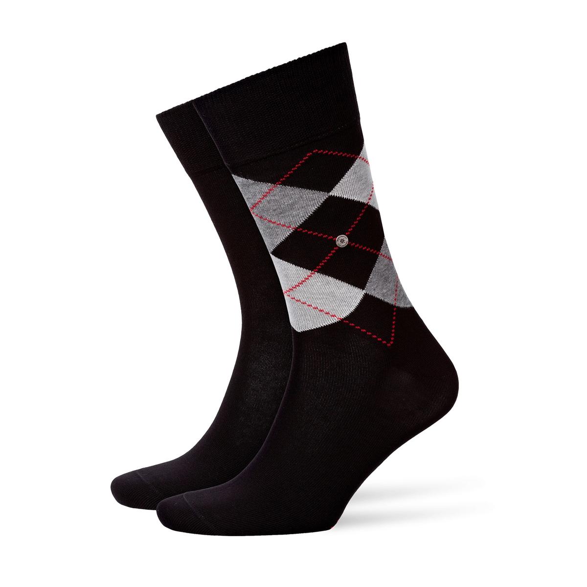 Комплект из 2 пар носков: с рисунком в виде ромбов и однотонные jd коллекция светло телесный 12 пар носков 15d две кости размер