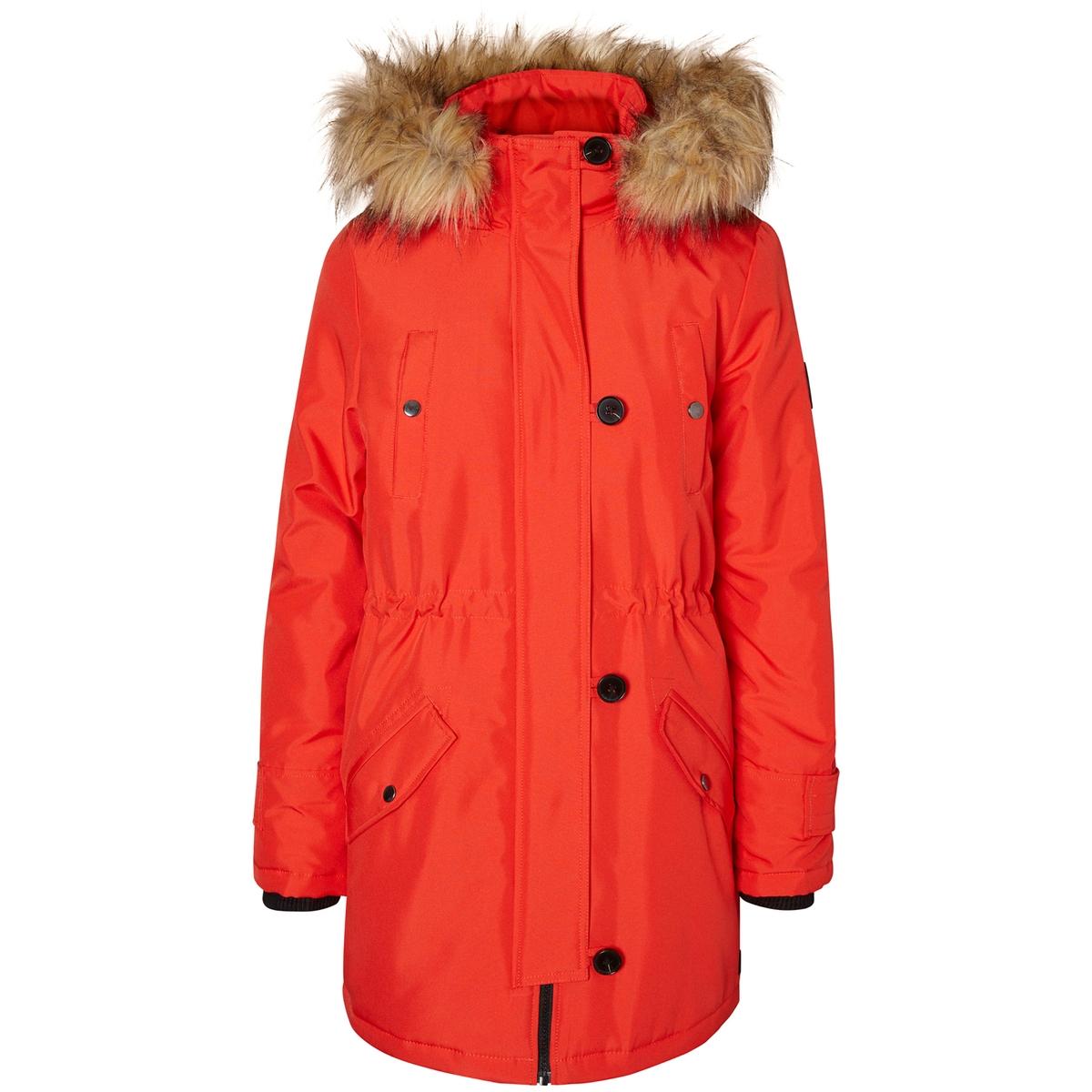 Полупальто с капюшономОписание:Защитите себя от холодов, выбрав это пальто с капюшоном VERO MODA . Капюшон оторочен искусственным мехом. Высокий воротник. 4 кармана с кнопками .Детали •  Длина : средняя •  Круглый вырез •  Застежка на молнию •  С капюшономСостав и уход •  100% хлопок •  Следуйте рекомендациям по уходу, указанным на этикетке изделия •  Пальто-парка длинное с длинными рукавами •  Съемный капюшон с опушкой из искусственного меха •  Скрытая застежка на молнию и пуговицы спереди •  Подкладка и наполнитель из полиэстера •  Манжеты в рубчик •  Пояс на завязках •  Карманы с застежкой на кнопки спереди •  Высокий воротник •  Длина: 80 см  для размера S<br><br>Цвет: красный<br>Размер: M
