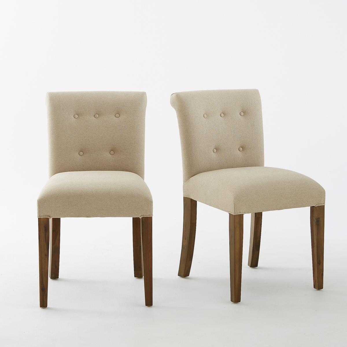 2 стула La Redoute С обитой спинкой Adlia единый размер бежевый