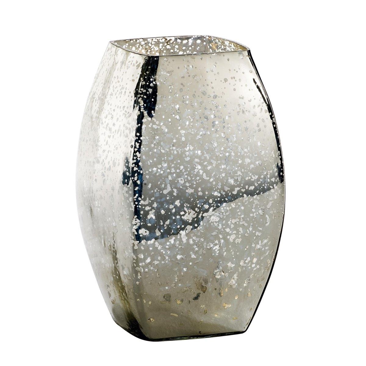 Ваза декоративная из стекла с напылением, EldaХарактеристики декоративной вазы из  стекла с напылением Elda    :Стекло с напылением.Найдите другие вазы и предметы декора. на сайте laredoute.ruРазмеры декоративной вазы с напылением Elda :Диаметр: 15 смВысота : 25 см.<br><br>Цвет: серый серебристый