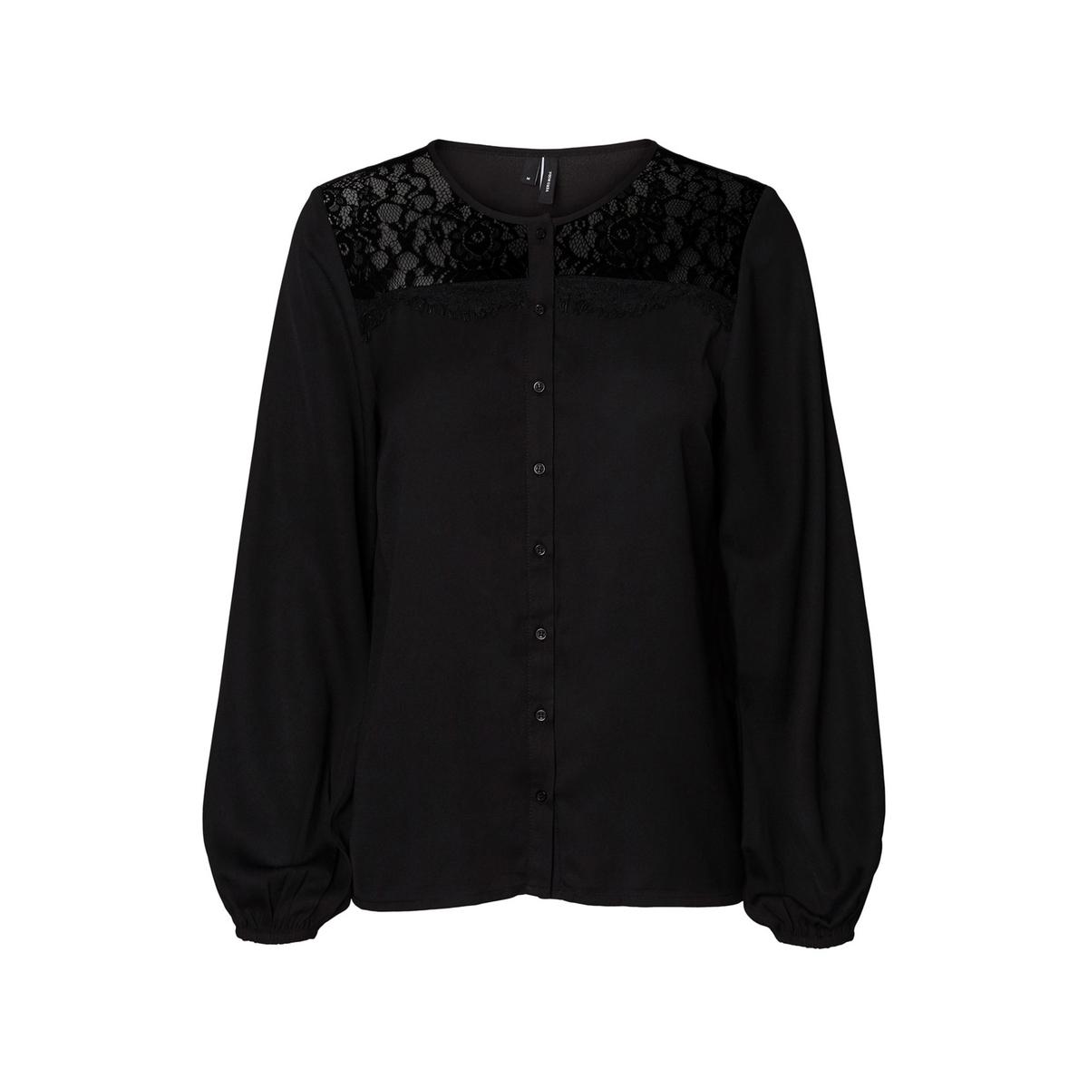 Блузка La Redoute С круглым вырезом и длинными рукавами XS черный блузка с круглым вырезом графическим рисунком и длинными рукавами