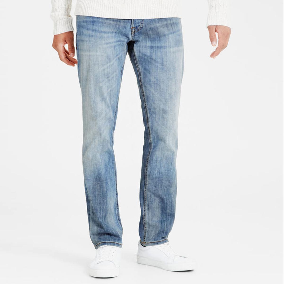 Джинсы узкие JJITIM ORIGINAL GE 987Узкие джинсы. Пояс со шлевками. Планка застежки на молнию.Состав и описание :Материал         деним стретч, 99% хлопка, 1% эластанаМарка         JACK &amp; JONESУход :Машинная стирка при 30 °С с вещами схожих цветовСтирать и гладить с изнаночной стороныГладить при умеренной температуре<br><br>Цвет: выбеленный<br>Размер: 34 длина 32 (US).32 (US) длина 32