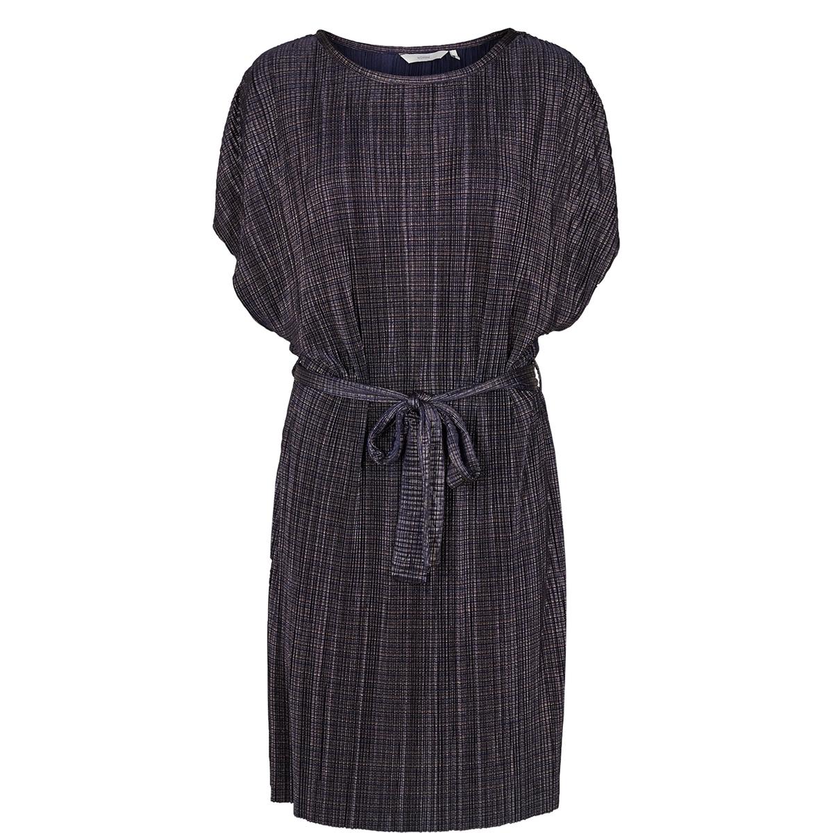 Платье прямое с поясом на завязкахОписание:Детали  •  Форма : прямая •  Длина до колен •  Короткие рукава    •  Круглый вырезСостав и уход  •  3% эластана, 97% полиэстера •  Следуйте советам по уходу, указанным на этикетке<br><br>Цвет: синий<br>Размер: L