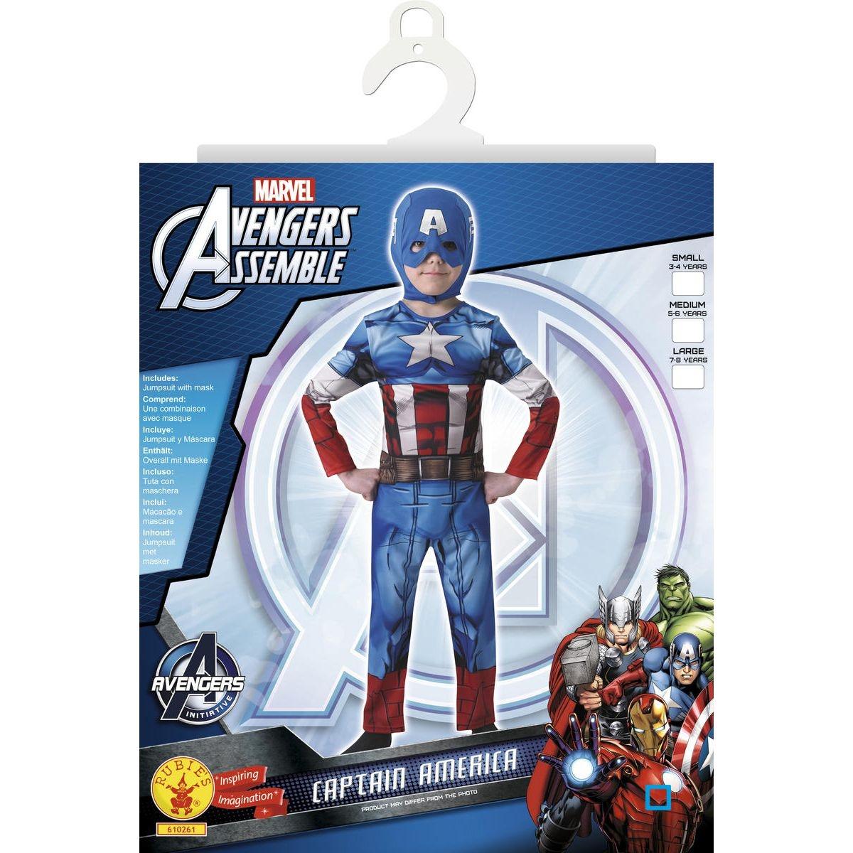 Déguisement Classique Captain America - Taille L - RUBI-610261L