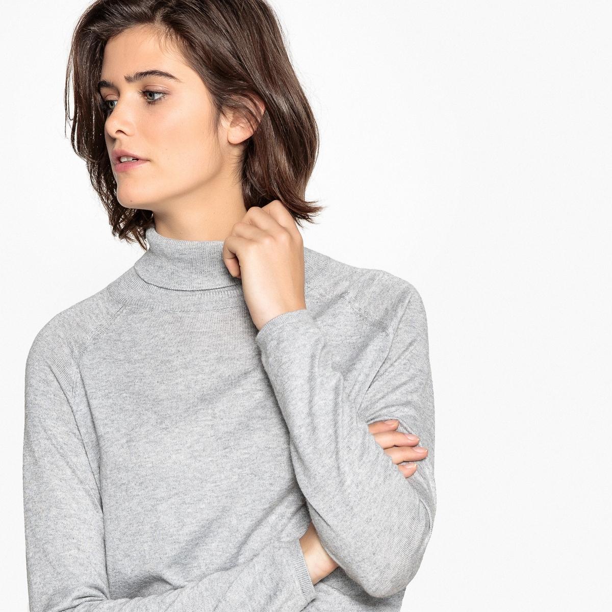 Jersey con cuello vuelto básico, de forma cuadrada