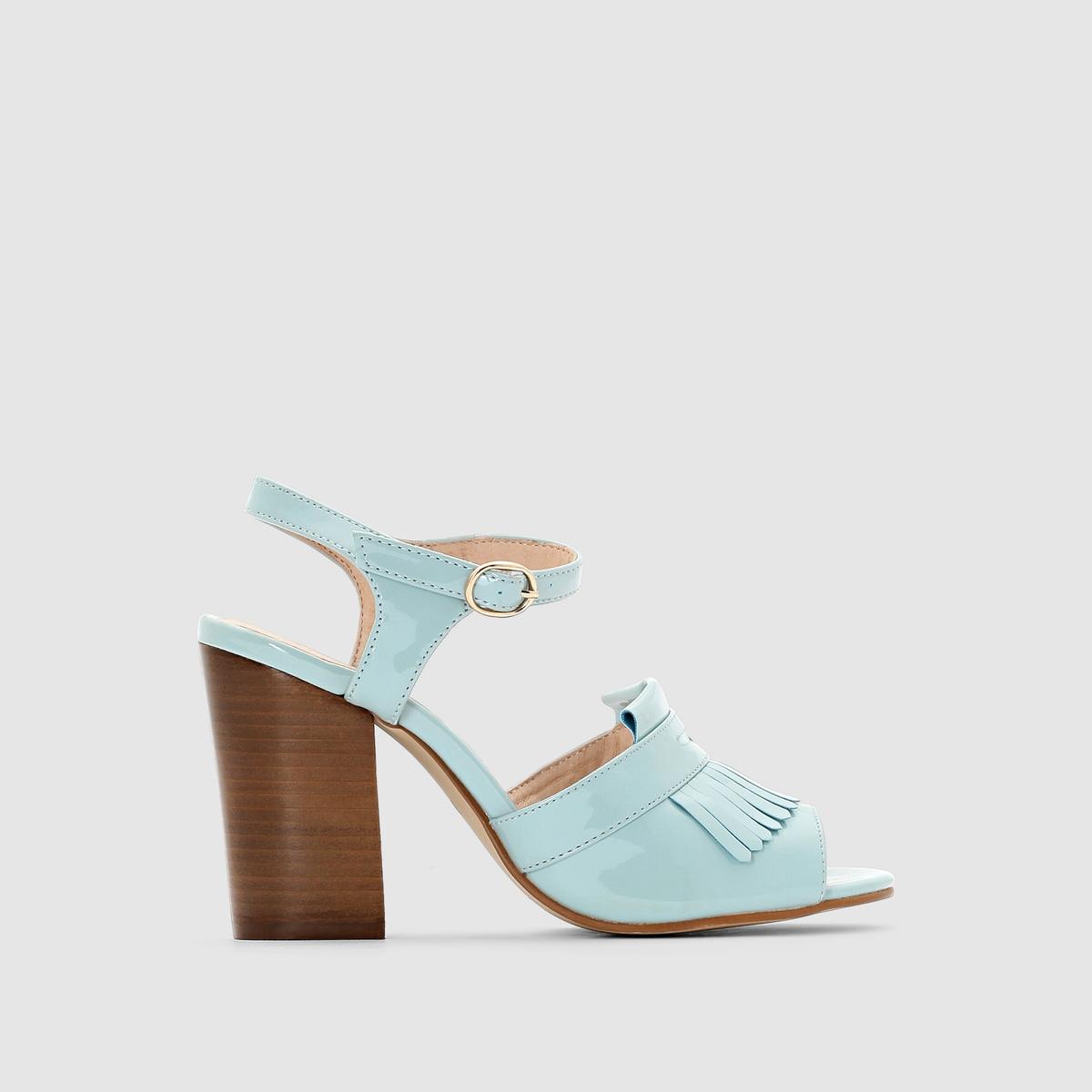 Босоножки на высоком каблуке MADEMOISELLE RОцените комфорт и стильную бахрому модели. Застежка на ремешок.<br><br>Цвет: небесно-голубой,розовый<br>Размер: 35.39