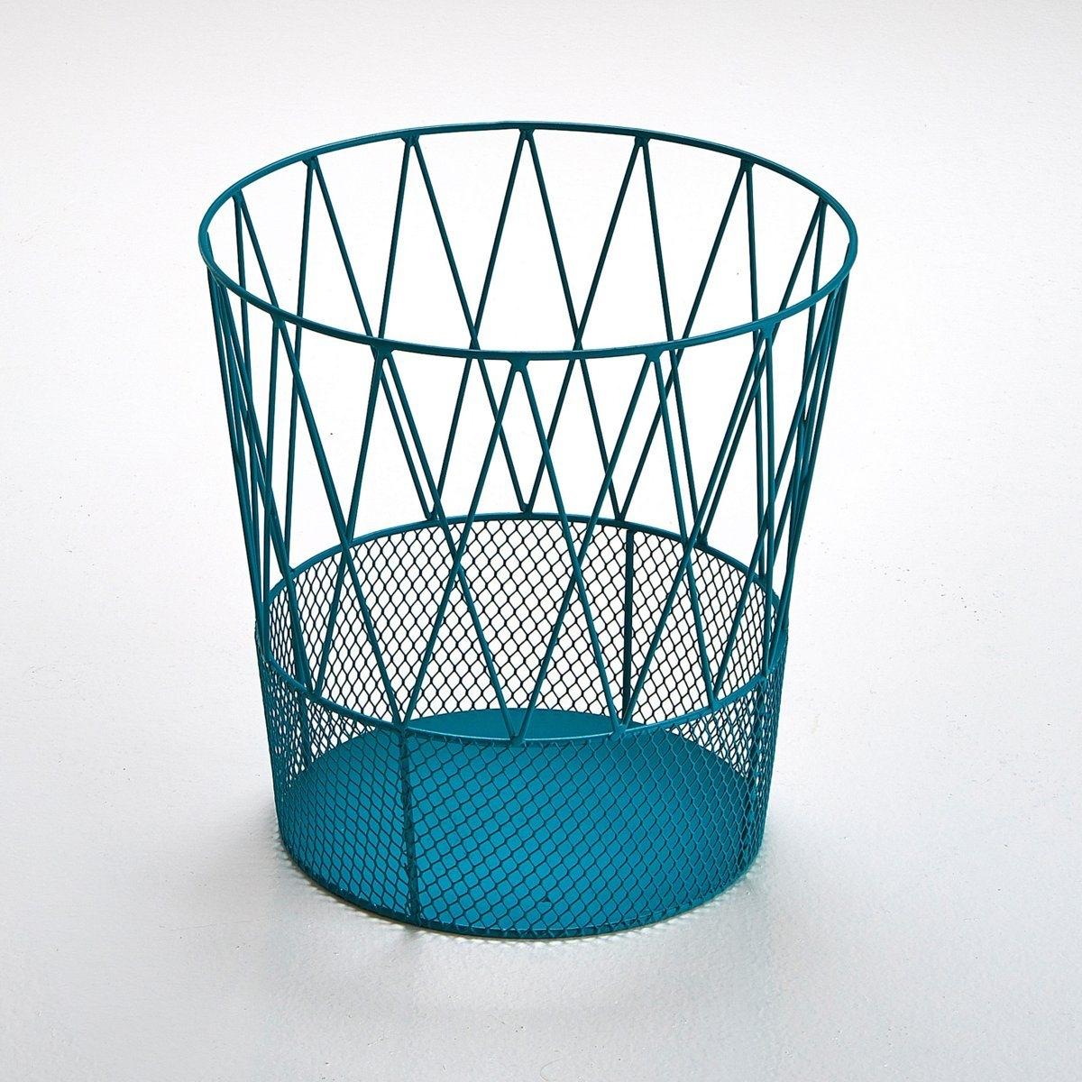 Металлическая корзина ЭльдеяМеталлическая корзина Эльдея : корзина для бумаг, которую не нужно прятать Характеристики :Металл с эпоксидным покрытием Размеры  :Высота 30 см? верхний 31 см? нижний  23см<br><br>Цвет: сине-зеленый,черный<br>Размер: единый размер