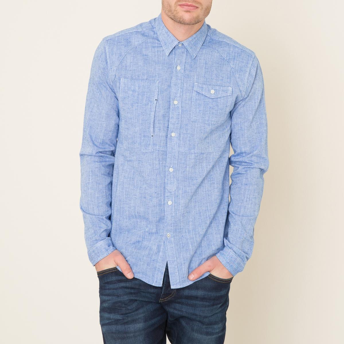 Рубашка из шамбреСостав и описание    Материал : 100% хлопокМарка : SCOTCH AND SODA<br><br>Цвет: синий деним