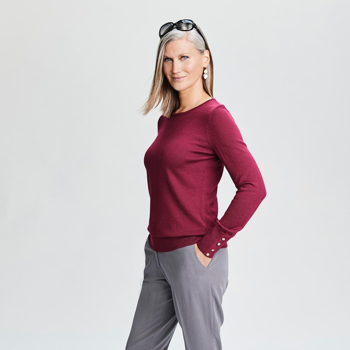 Imagen adicional 3 de producto de Pantalón urbano tobillero, de poliviscosa - Anne weyburn