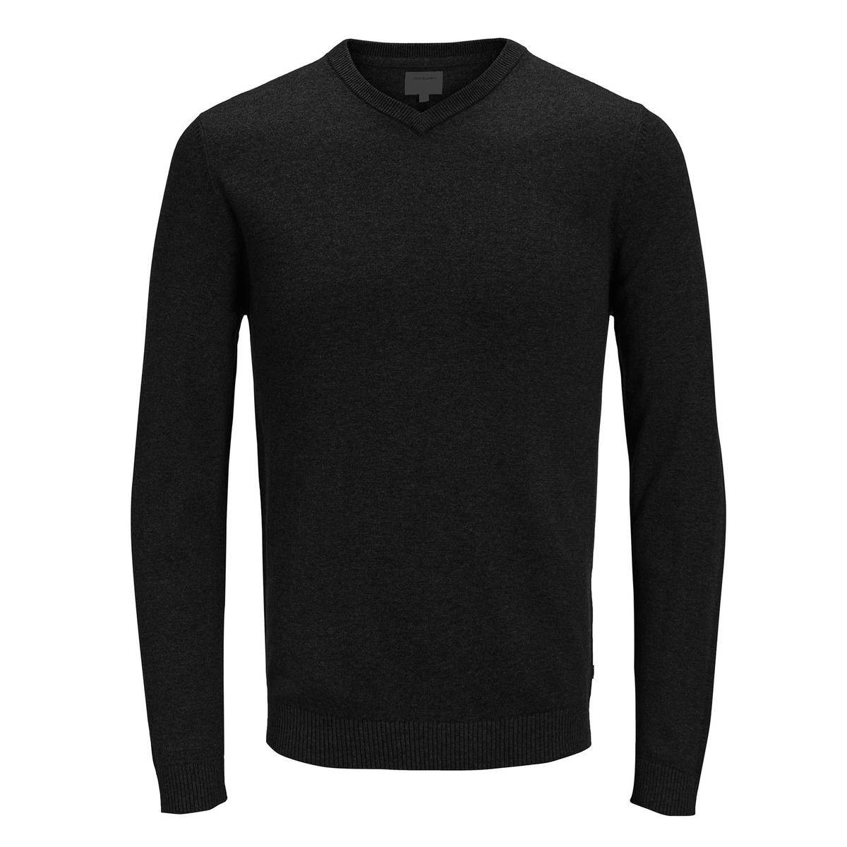 Пуловер La Redoute С V-образным вырезом из тонкого трикотажа L черный пуловер la redoute из тонкого трикотажа со шнуровкой l бежевый
