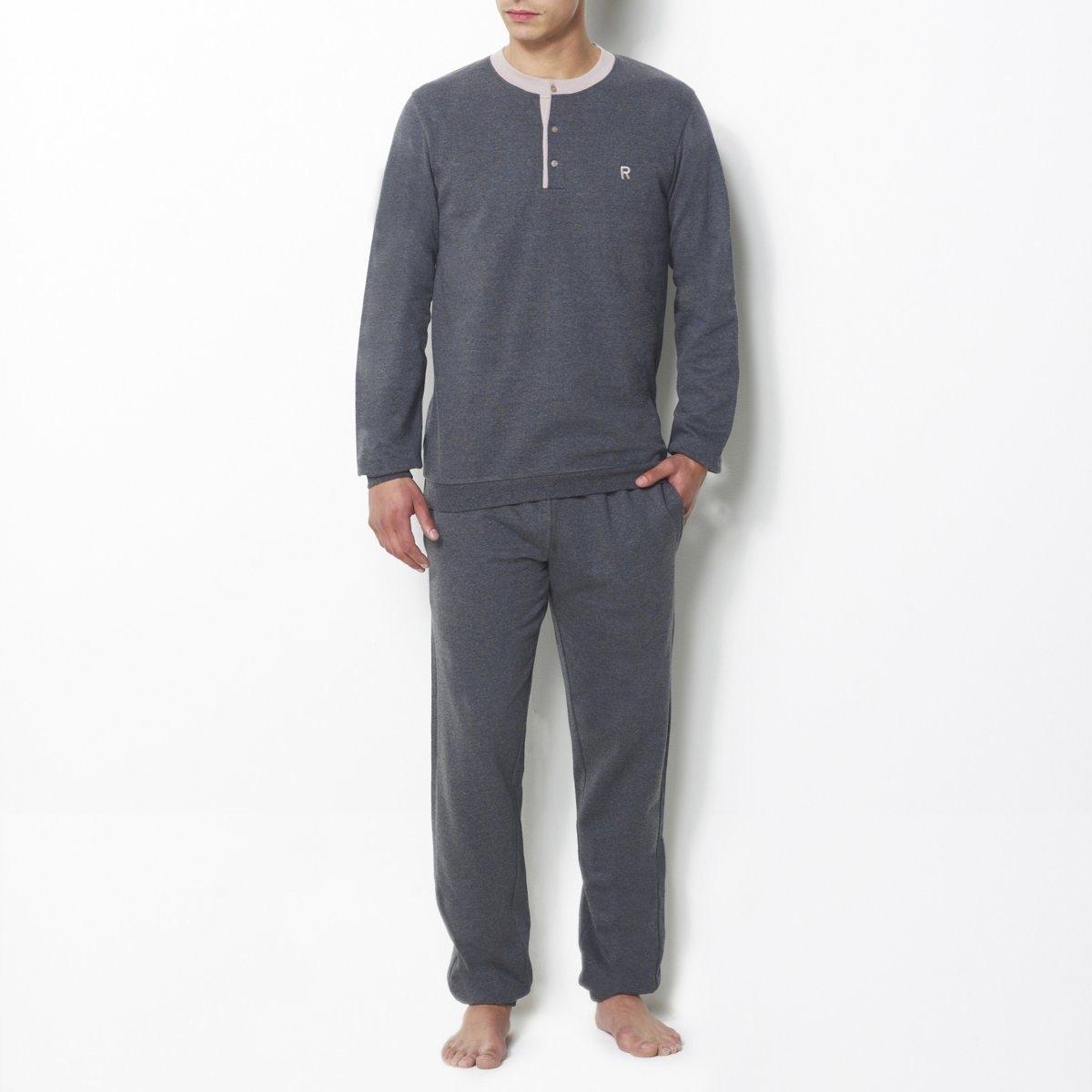 Пижама из мольтона*Международный знак Oeko-Tex гарантирует отсутствие вредных или раздражающих кожу веществ<br><br>Цвет: темно-серый меланж<br>Размер: L.XL
