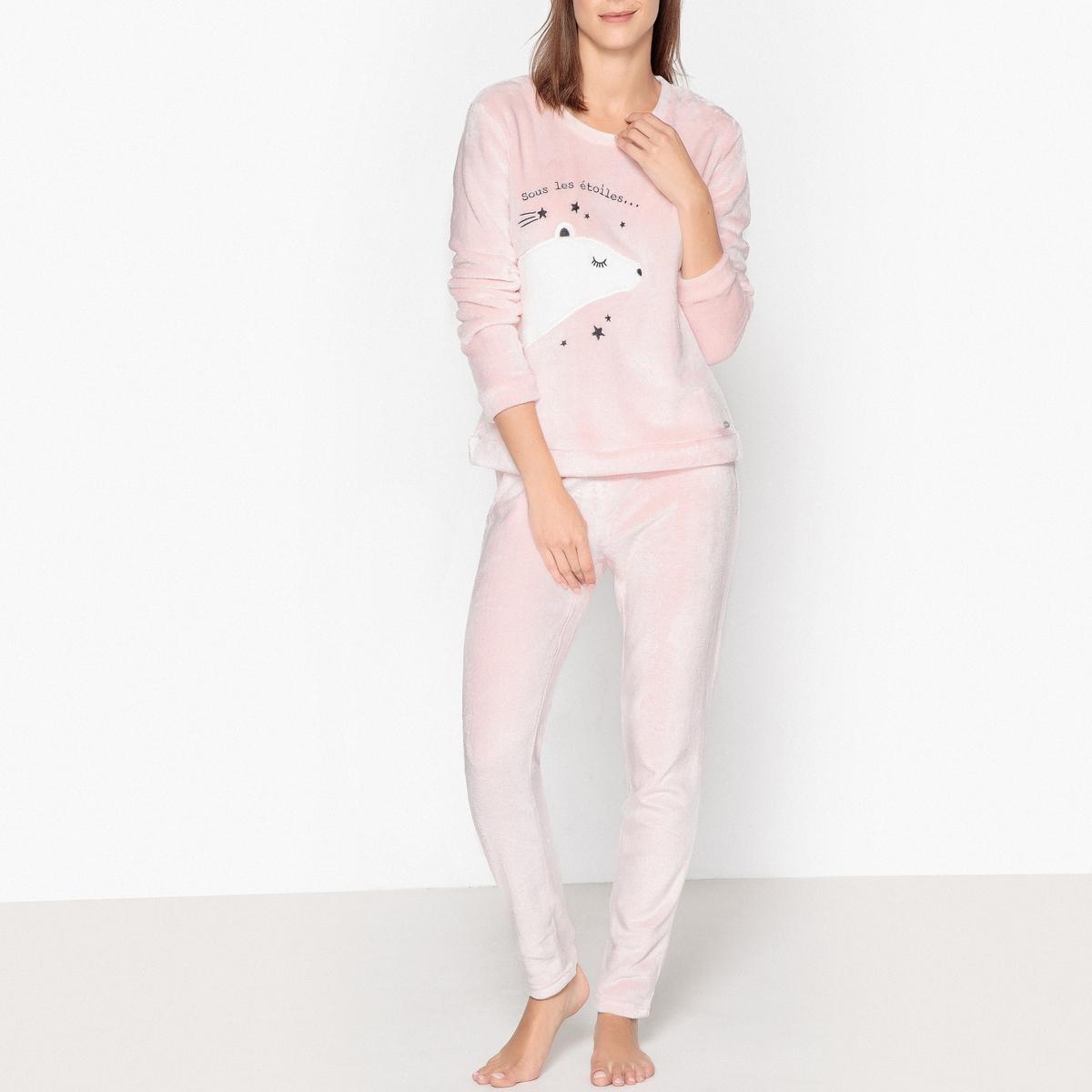 Пижама из велюра с рисунком медведи пижама с шортами с рисунком