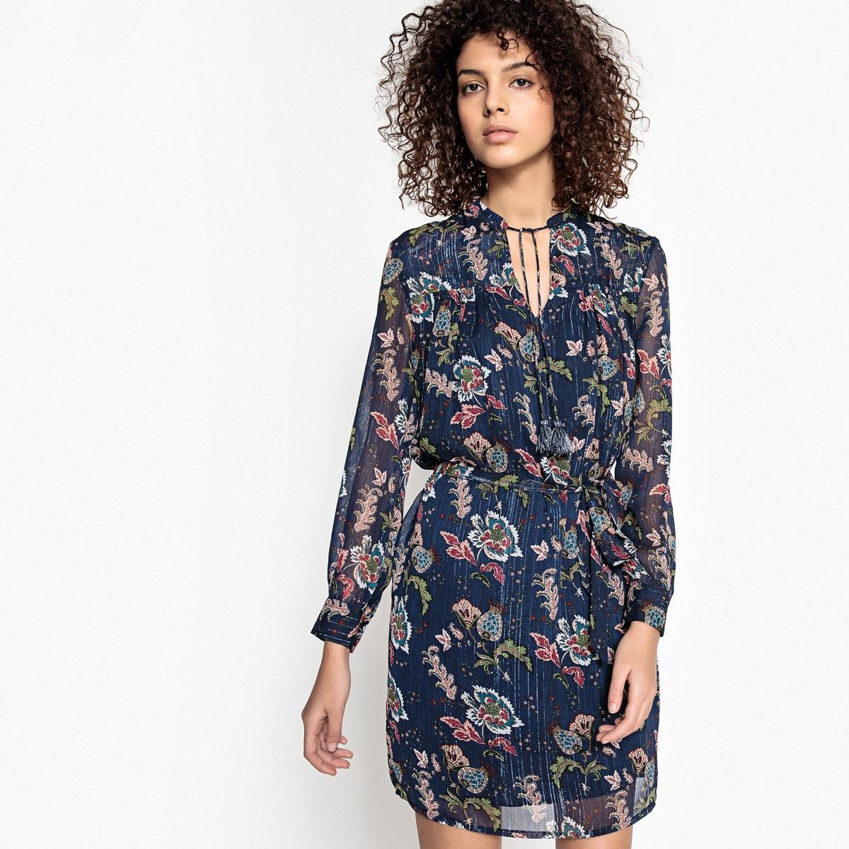 Платье с рисунком и длинными рукавами CESAIRE платье с рисунком и длинными рукавами