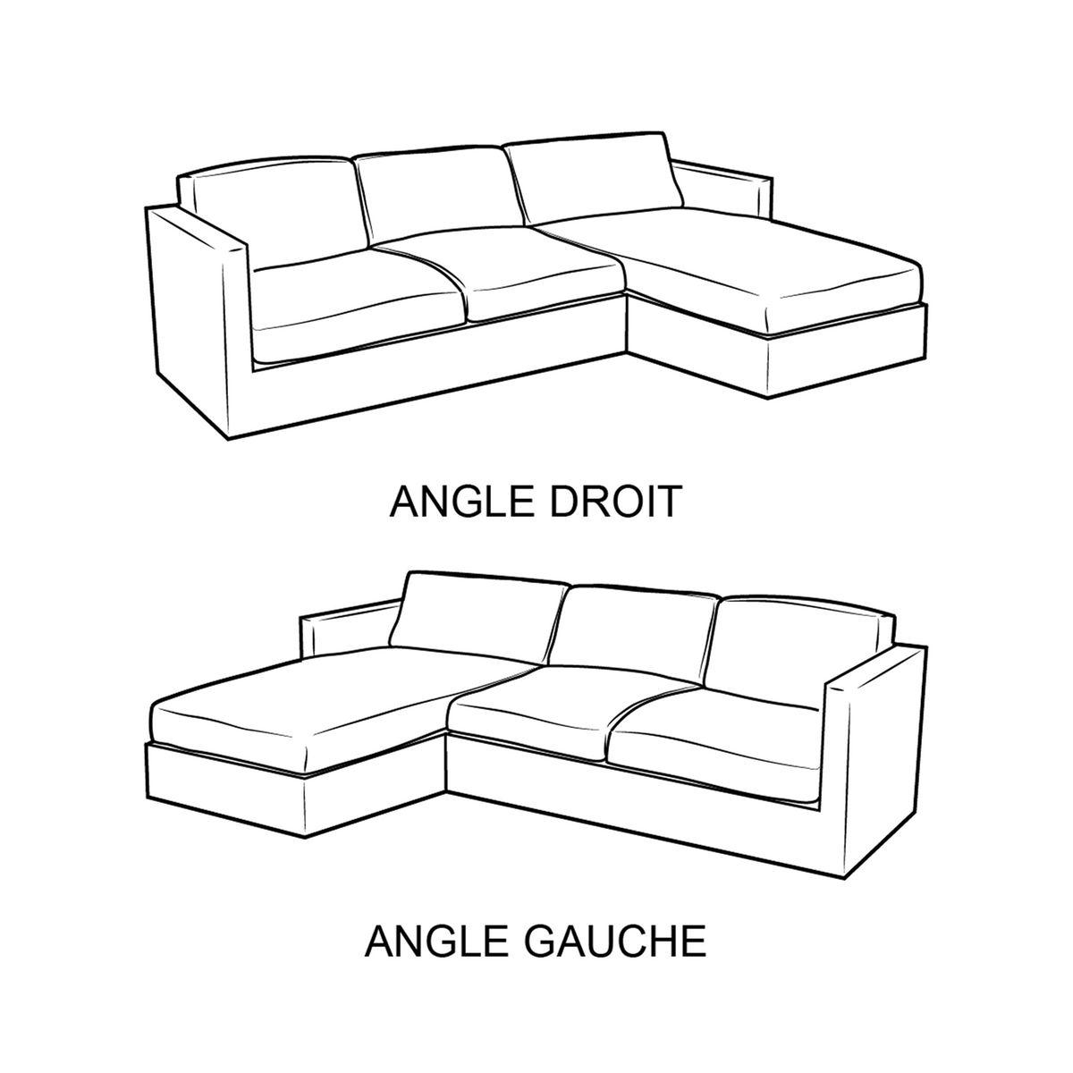 Canapé d'angle Tissu Contemporain Confort