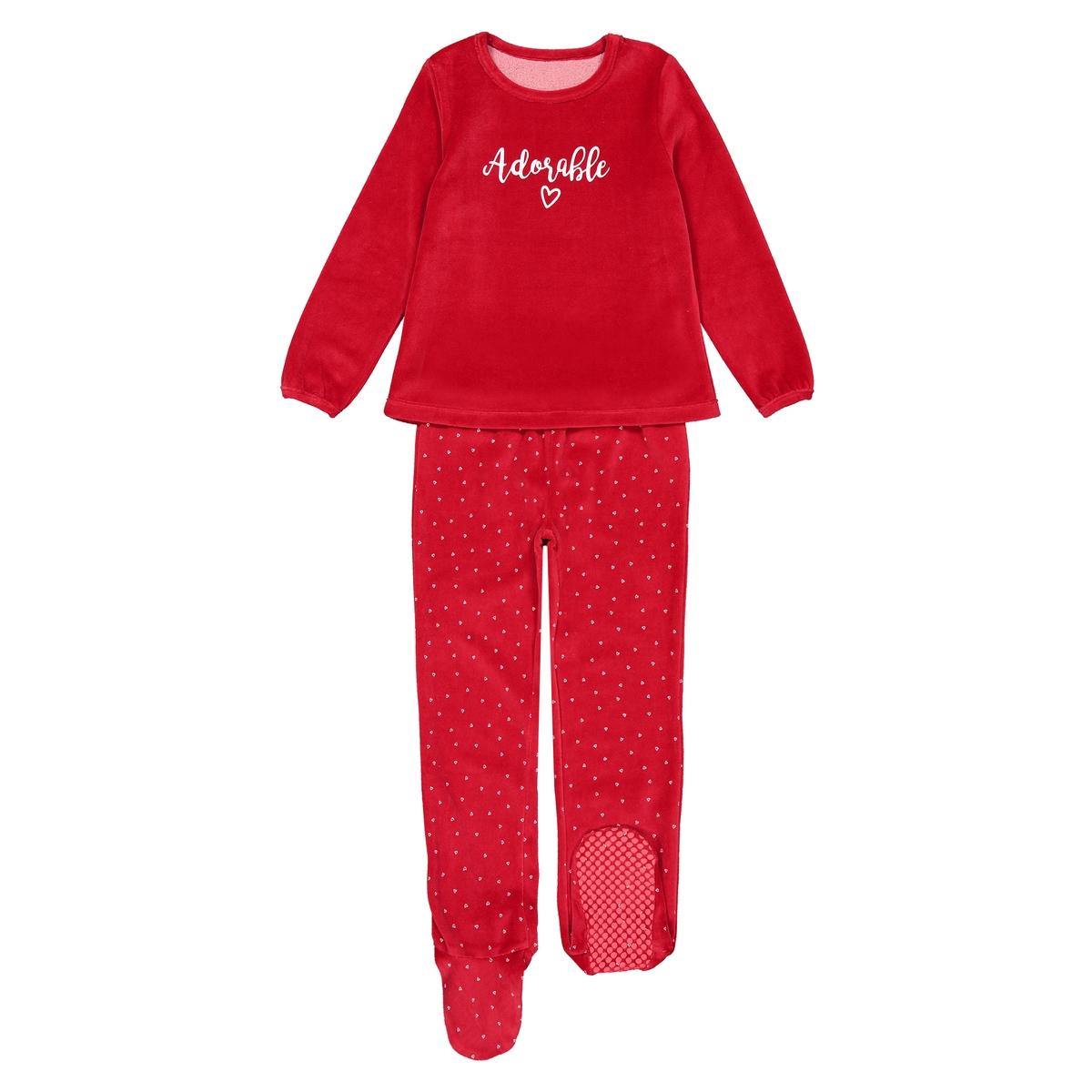 Пижама La Redoute Из велюра 12 лет -150 см красный пижама la redoute с надпись из велюра 12 лет 150 см розовый