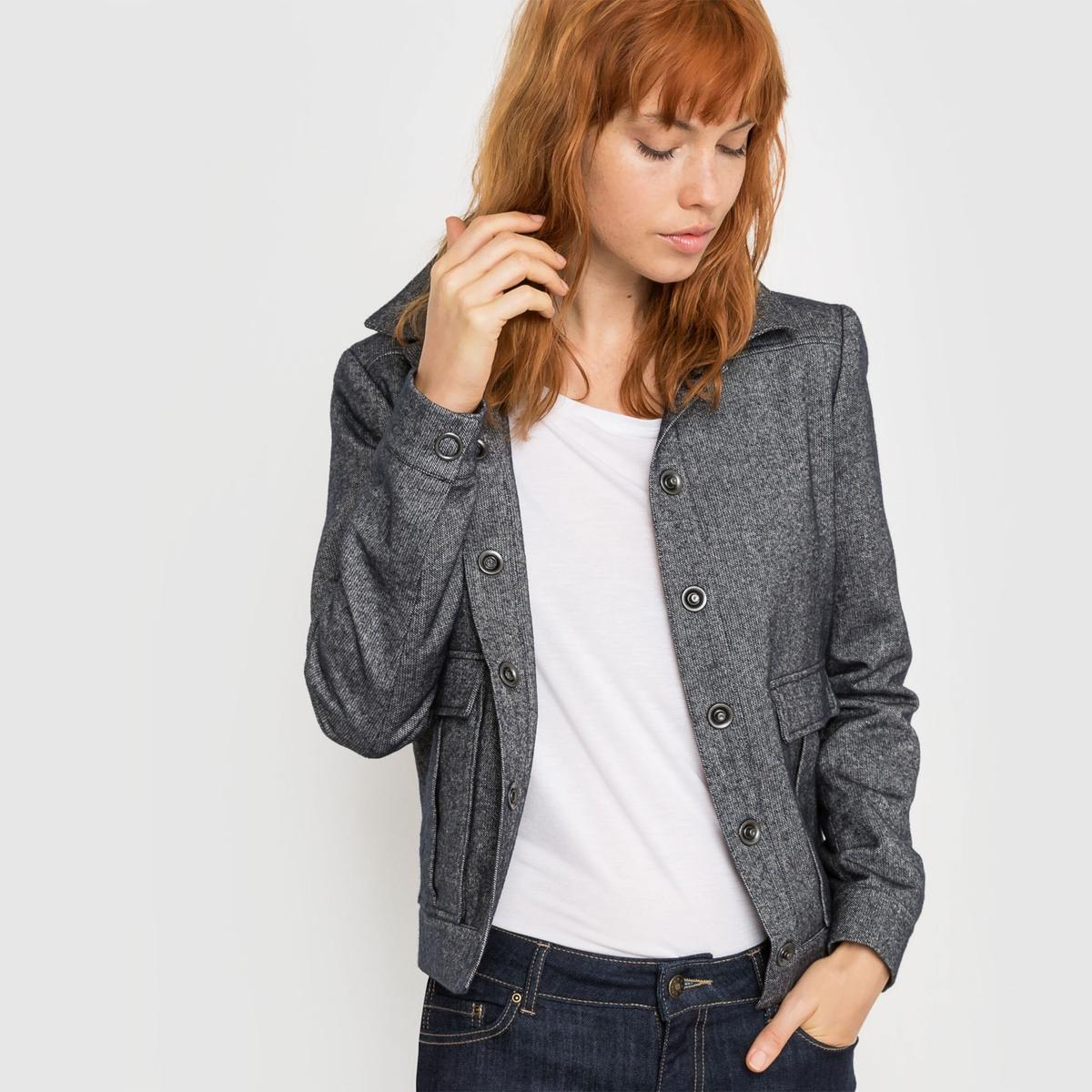 Пиджак с рубашечным воротником