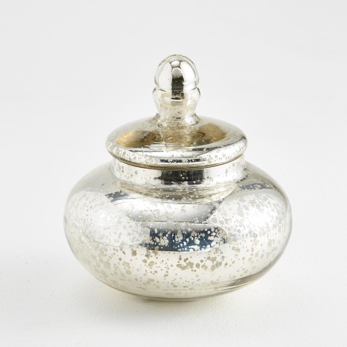 Бутыль декоративная из ртутного стекла , EldaХарактеристики бутыли Elda  :Бутыль из ртутного стекла .Найдите всю коллекцию ваз и декоративных предметов на нашем сайте   ..Размеры бутыли Elda :Высота : 10 смДиаметр : 17,5 см<br><br>Цвет: серый серебристый