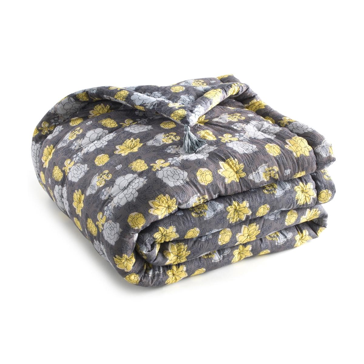 Одеяло стеганое из хлопковой вуали с рисунком колорблок, Singleton