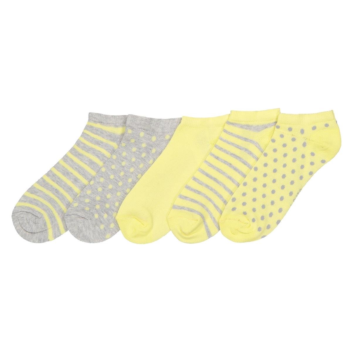 цена на Комплект из пар носков La Redoute Размеры - 27/30 серый