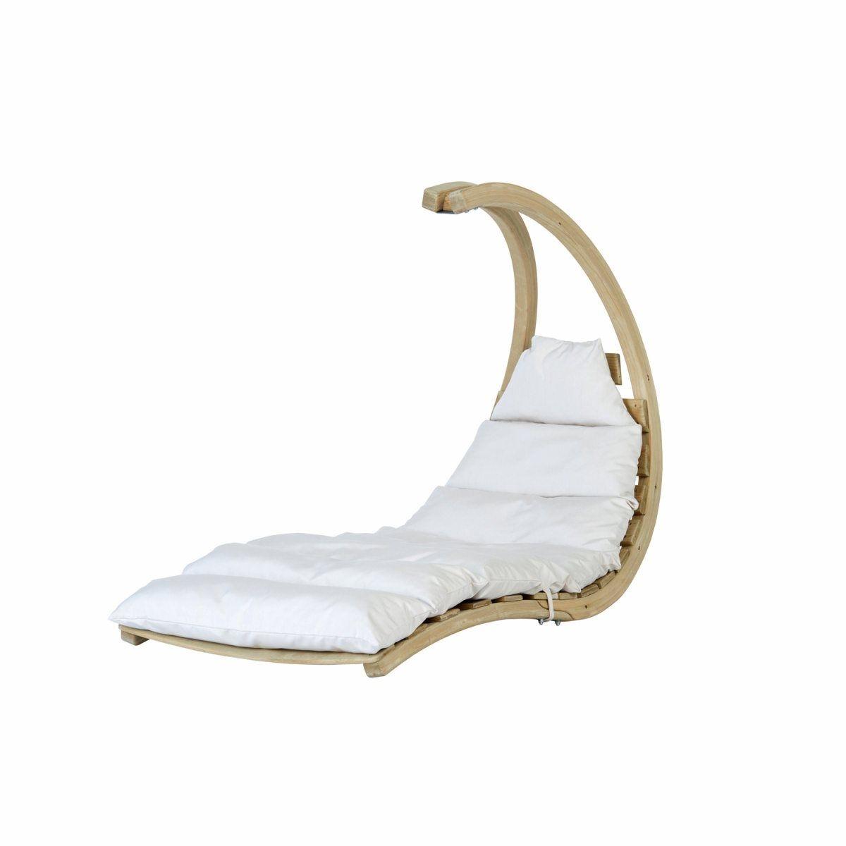 Chaise Longue Swing Lounger Crème