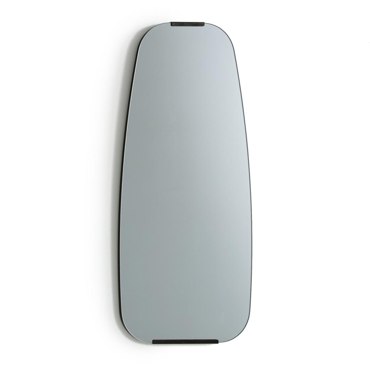 Зеркало из бронзового сплава серых тонов, DialectЗеркало Dialect. Культовое зеркало 50-х годов, слегка окрашенное и прикрепляемое к стене с помощью двух кронштейнов (винты и дюбели продаются отдельно). Накладки из латуни с отделкой под старину. Размеры : Ш.32,6 x В.74,5 x Г.2 см.<br><br>Цвет: дымчато-серый<br>Размер: единый размер