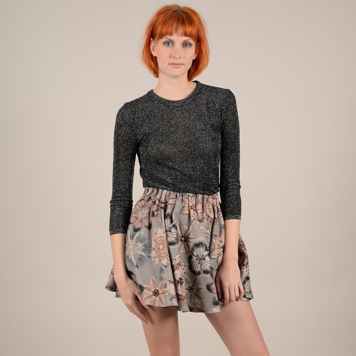 Пуловер La Redoute Из тонкого блестящего трикотажа с рукавами L/XL черный пуловер la redoute из тонкого трикотажа со шнуровкой l бежевый