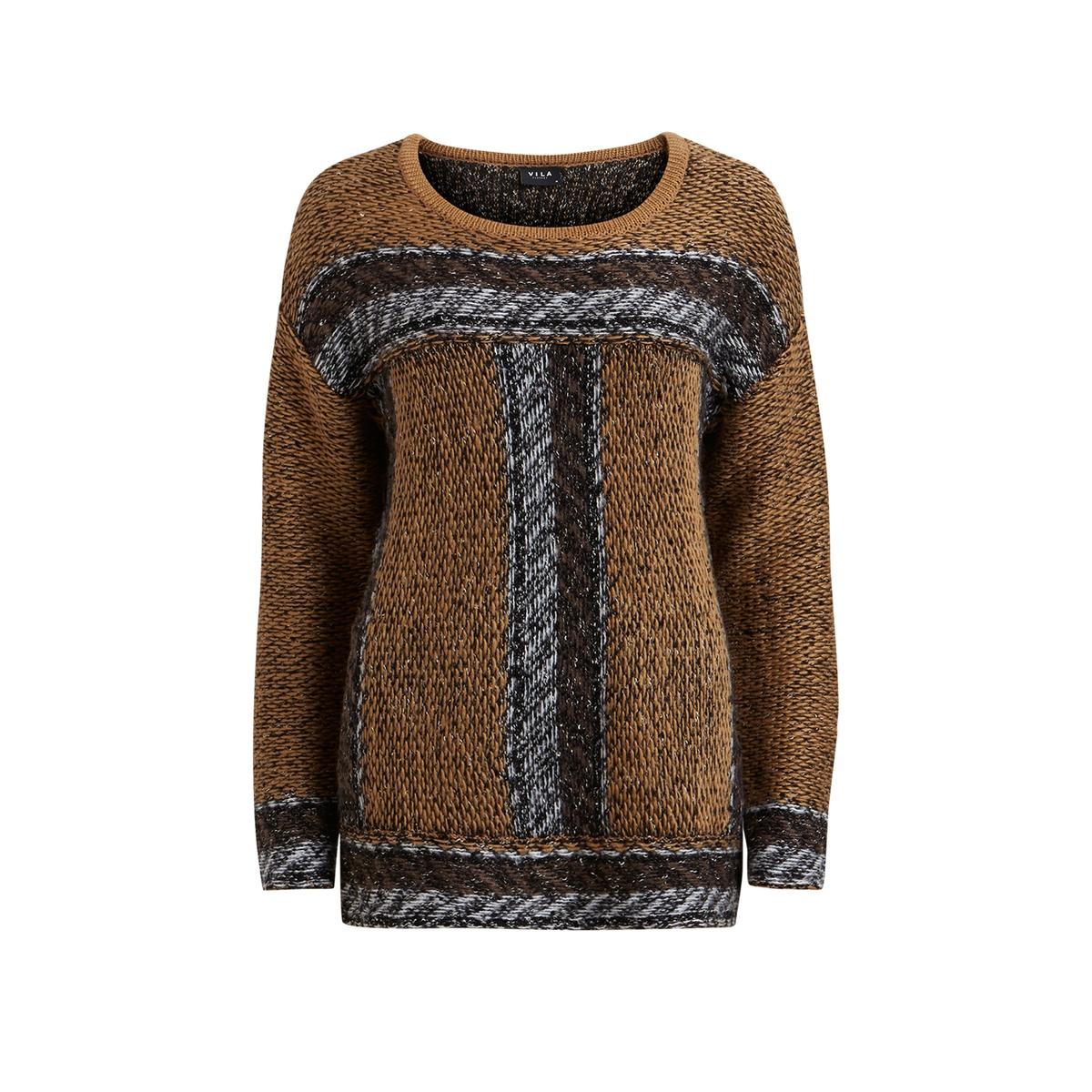 Пуловер VIMOUNTAIN KNIT TOPСостав и описание :Материал : 37% акрила, 30% шерсти, 20% хлопка, 13% полиэстера Марка : VILA.<br><br>Цвет: ореховый