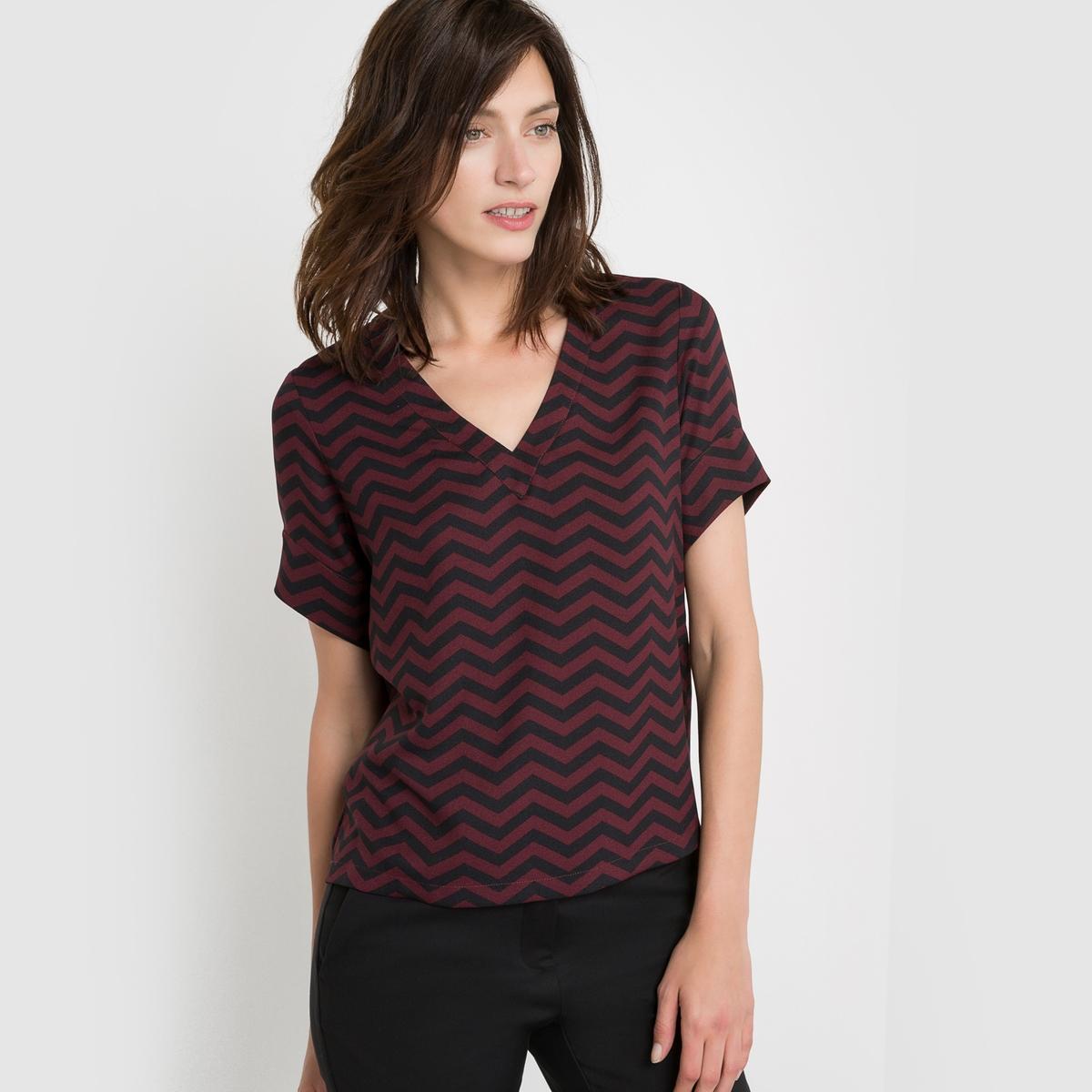 Блузка с рисунком ёлочка